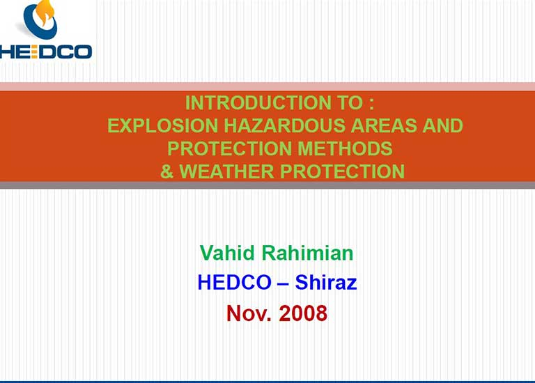 Hazardous Area Classification Seminar